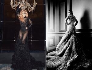 Lady Gaga à gauche et Kim Kardashian à droite.