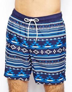 Si les Schtroumpfs faisaient des shorts style aztèque, ils ressembleraient sans doute à ça - Asos - 24.58€