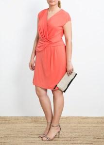 Une robe au teint de pêche - Violeta by Mango - 59.99€